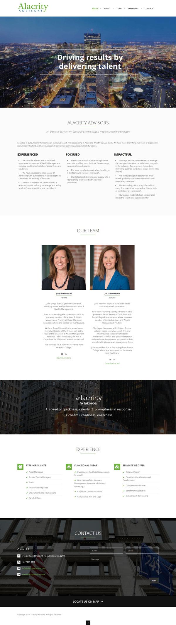 alacrity-advisors - Mica Web Design